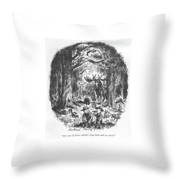 It's One Of Those Whistles Dogs Hear And We Don't Throw Pillow by Alan Dunn
