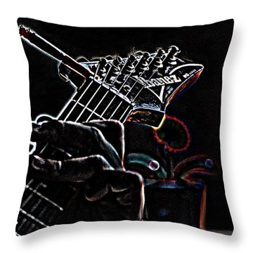 It's Only Dangerous On The Solos Throw Pillow by Bartz Johnson