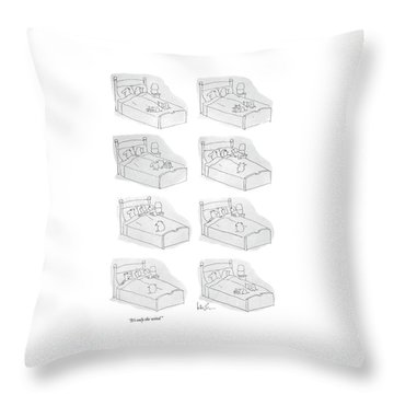 It's Only The Wind Throw Pillow