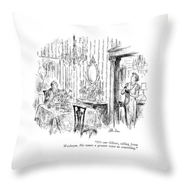 It's Our Oliver Throw Pillow