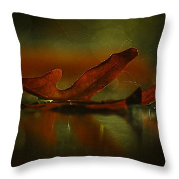 Its Raining Fall  Throw Pillow by Tammy Schneider
