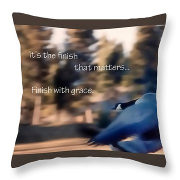 It's The Finish 21169 Throw Pillow
