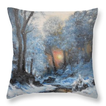 It's Winter Throw Pillow by Sorin Apostolescu