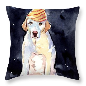 It's Your Birthday Throw Pillow by Molly Poole