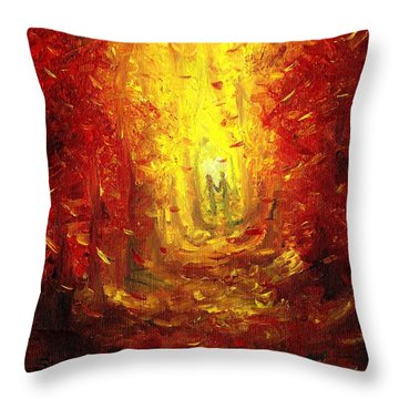 Throw Pillow featuring the painting Ive Fallen For You by Shana Rowe Jackson