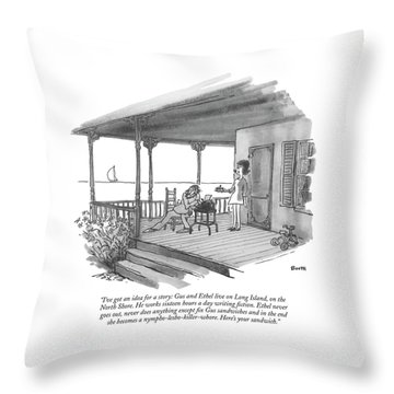 I've Got An Idea For A Story: Gus And Ethel Live Throw Pillow