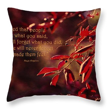 I've Learned - Maya Angelou Throw Pillow