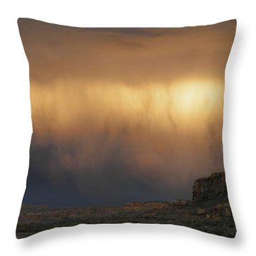 I've Seen It Raining Fire In The Sky Throw Pillow by Feva  Fotos