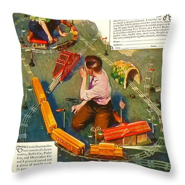 Ives Toys Advertisement. Very Old. Throw Pillow