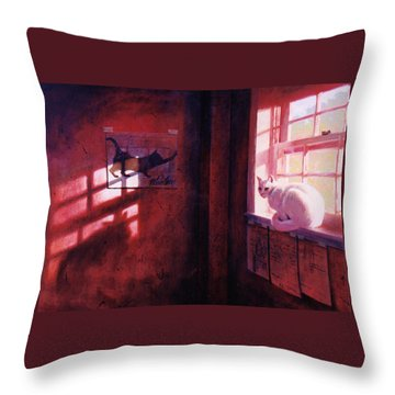 Ivory's Shadow Throw Pillow by Blue Sky