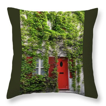 Ivy Cottage Throw Pillow by Ann Horn