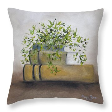 Throw Pillow featuring the painting Ivy League by Judith Rhue