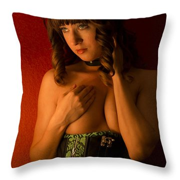 Throw Pillow featuring the photograph Ivy Lee #2 by Mez