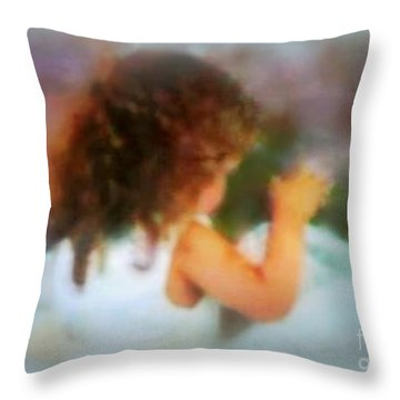 Ivy Rose  Spring's Child Throw Pillow