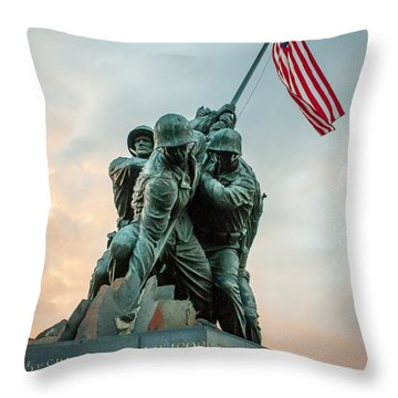 Iwo Jima Memorial Throw Pillow