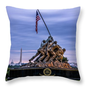 Iwo Jima Monument Throw Pillow