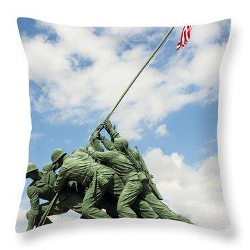 Iwo Jima Monument II Throw Pillow