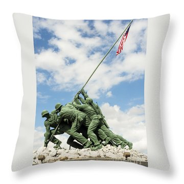 Iwo Jima Monument II Throw Pillow