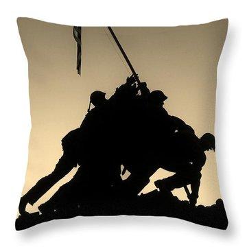 Iwo Throw Pillow by Robert Geary