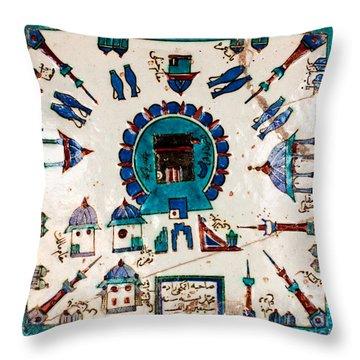 Iznik Kaaba Throw Pillow
