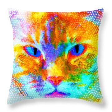 Izzy Throw Pillow by Moon Stumpp