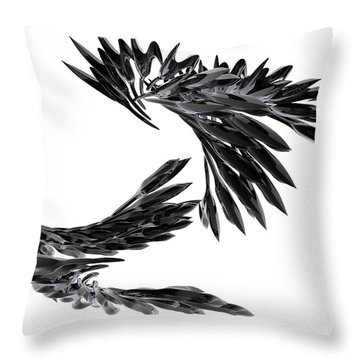 J Big   Crows Throw Pillow