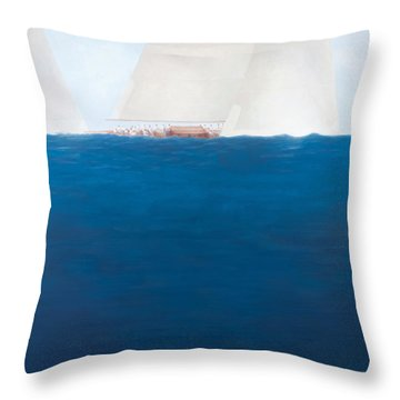 J Class Racing The Solent 2012  Throw Pillow by Lincoln Seligman