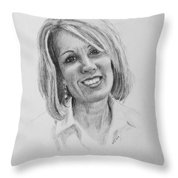 J Throw Pillow