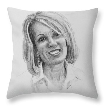 J Throw Pillow by Daniel Reed