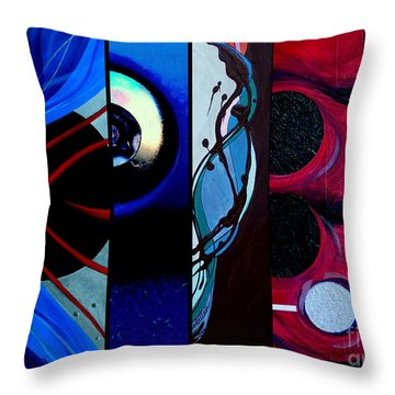 j HOT 27 Throw Pillow by Marlene Burns