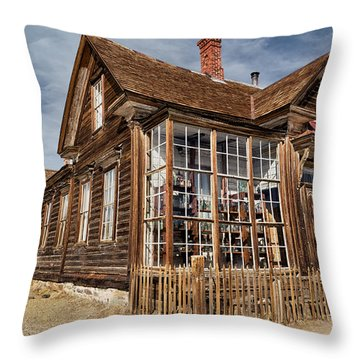 J. S. Cain Home In Bodie Ghost Town Throw Pillow