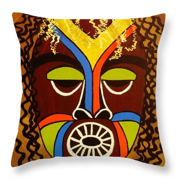 Jabari Throw Pillow by Celeste Manning