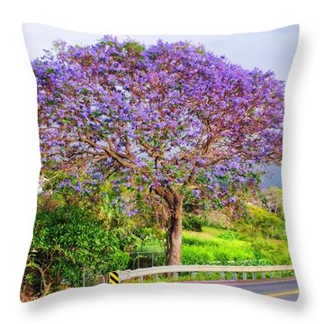 Jacaranda 4 Throw Pillow