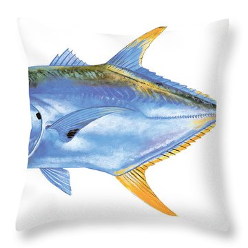 Jack Crevalle Throw Pillow by Carey Chen