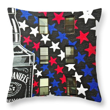 Jack Daniel's Wall Art Throw Pillow by Joan Reese