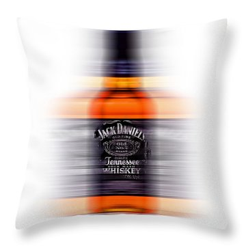 Throw Pillow featuring the digital art Jack Daniels Whiskey by Nop Briex
