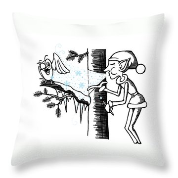 Jack Frost Holiday Card Throw Pillow