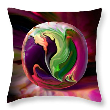 Jack In The Pulpit Globe Throw Pillow