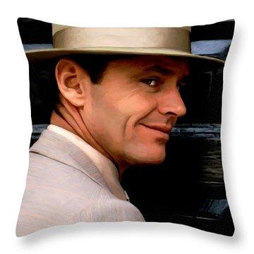 Jack Nicholson @ China Town Throw Pillow