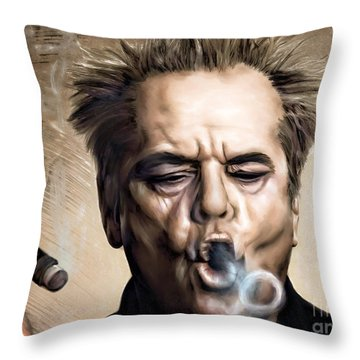 Jack Nicholson Throw Pillow