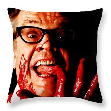 Jack Nicholson Painted From Photo Of Matthew Rolston Throw Pillow