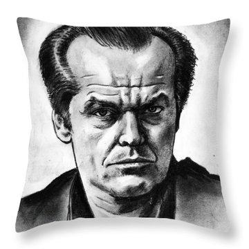 Jack Nicholson Throw Pillow by Salman Ravish