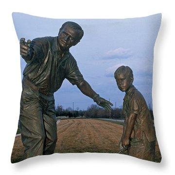 36u-245 Jack Nicklaus Sculpture Photo Throw Pillow
