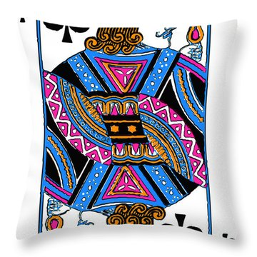 Jack Of Spades - V3 Throw Pillow