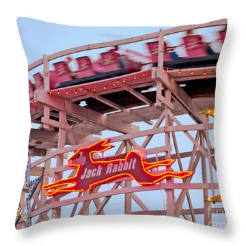 Jack Rabbit Coaster Kennywood Park Throw Pillow