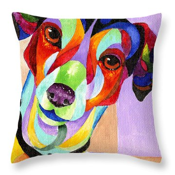Jack Russell Terrier Throw Pillow by Sherry Shipley
