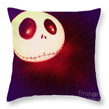 Jack Skellington Glowing Throw Pillow