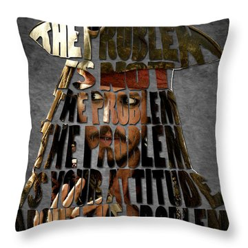 Jack Sparrow Quote Portrait Typography Artwork Throw Pillow