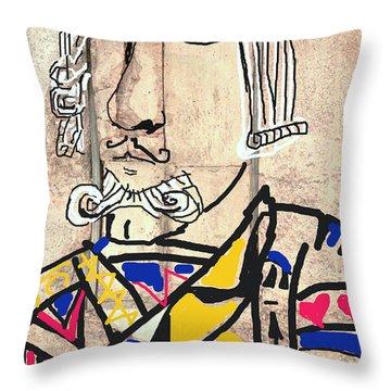 Jack The King Throw Pillow by Joe Jake Pratt