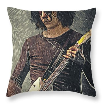 Jack White Throw Pillow by Taylan Apukovska